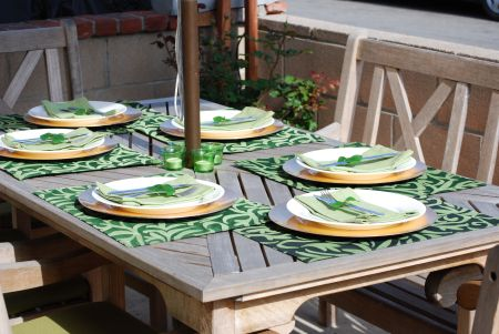 bargain table setting