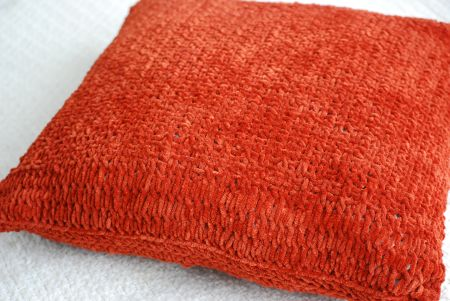 Decorative pillow knitting craft project