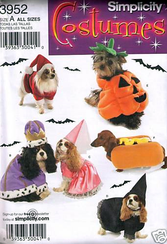 simplicity pattern 3952 dog costume