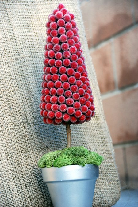 red berry christmas tree topiary craft