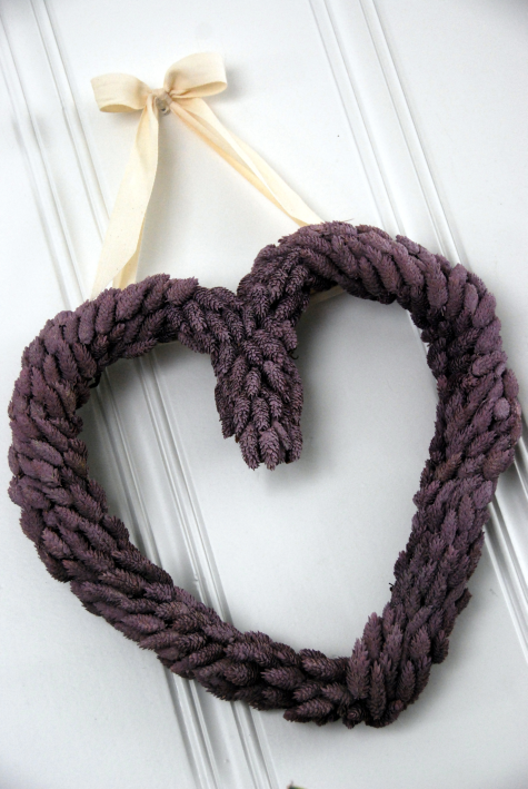 heart shaped wreath valentine's craft
