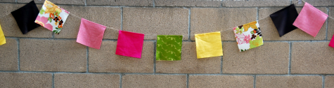 how to make square fabric bunting craft party decoration