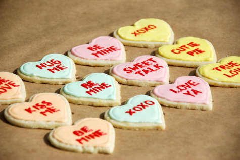 conversation heart cookie valentines day baking craft recipe