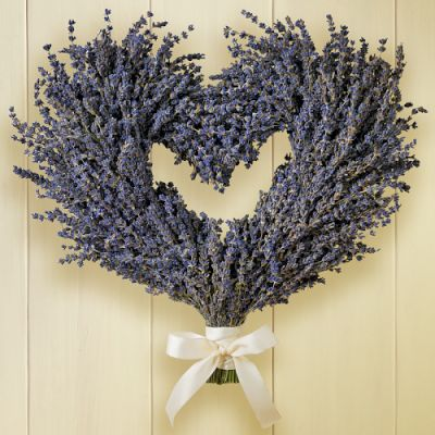 Williams-Sonoma Lavender Heart Wreath