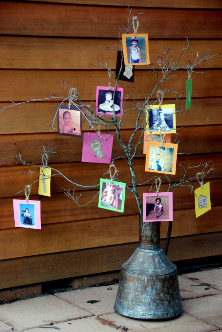 picture tree craft baby shower decoration idea