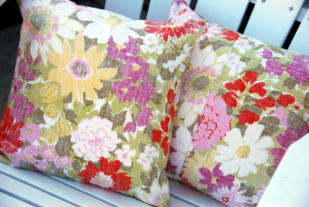 how to make an inside out pillow cover vintage fabric reyn spooner style