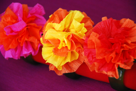 Crepe paper flowers the thrifty crafter mexican crepe paper flowers cinco de mayo crafts decorating projects mightylinksfo