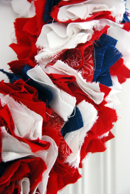 fourth of july crafts fabric wreath red white and blue fireworks display