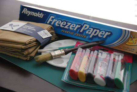 screen printing freezer paper stencil fabric paint tutorial craft