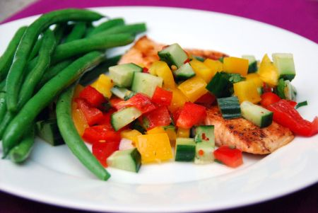 Mayo Clinic seared salmon with cucumber cilantro salsa diabetic dinner recipes dr. gundry healthy eating