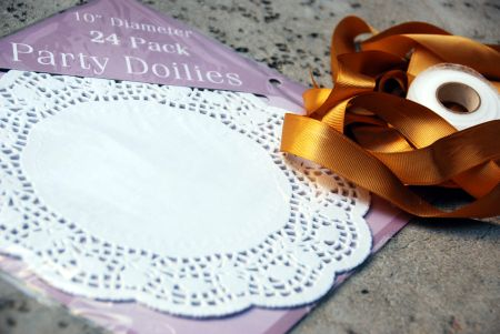 hosting a themed book club craft decorating ideas recipes entertaining paper doily garland