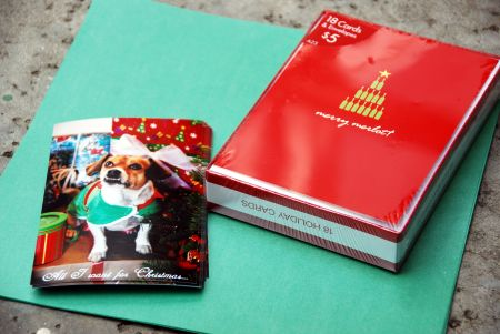 semi homemade christmas photo greeting card craft costco michael's target