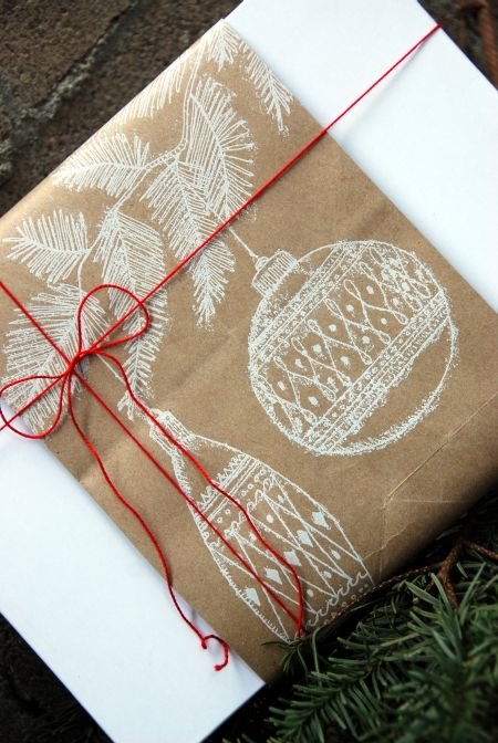 trader joes brown reusable paper bag christmas gift wrapping