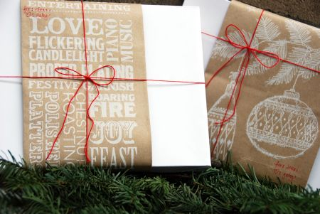trader joes wrapping paper christmas gift reusable brown paper bag